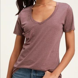 Z-Supply Faded V-neck Pocket Tee